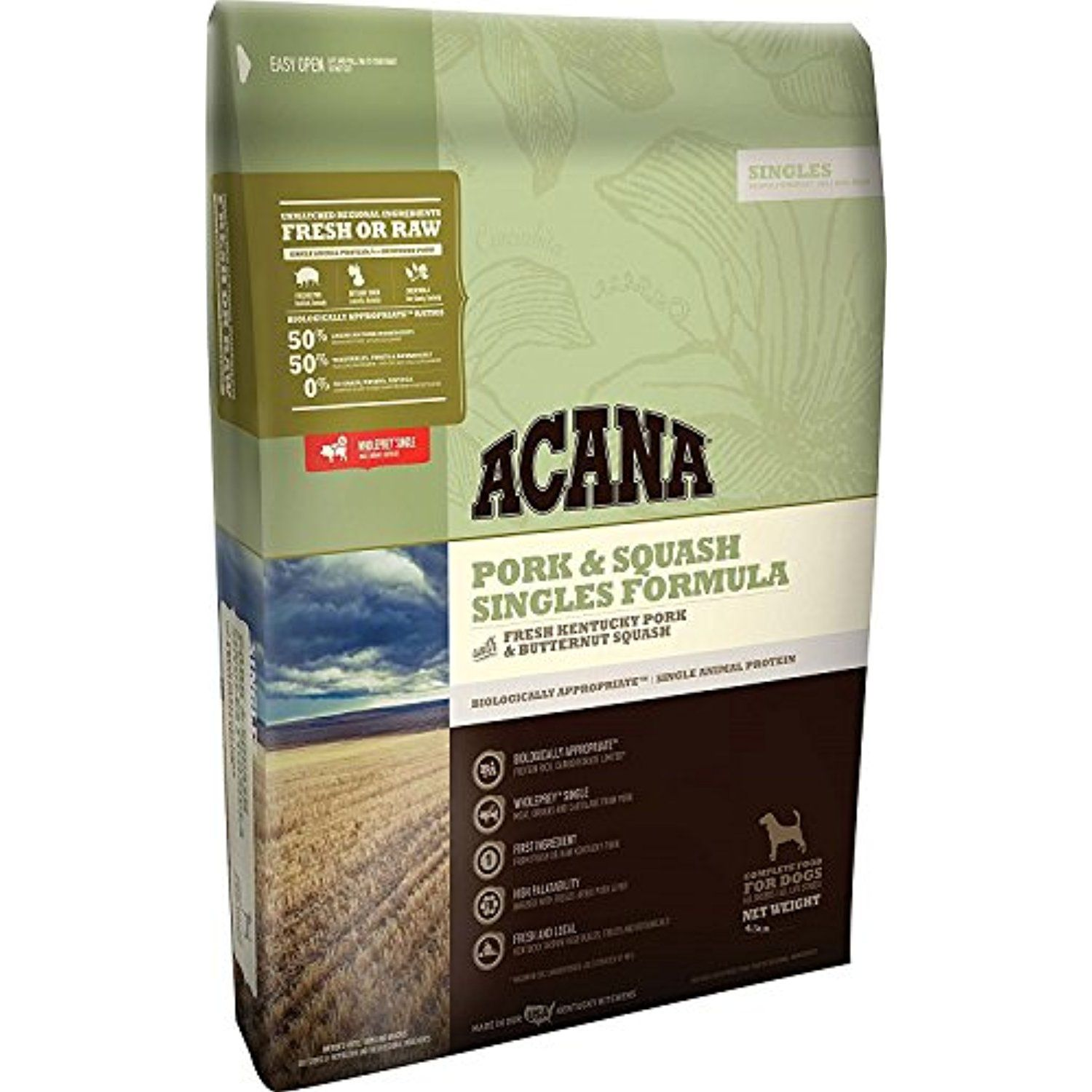 Acana Singles Formula Pork And Squash Dog Food 4 5lbs You Can