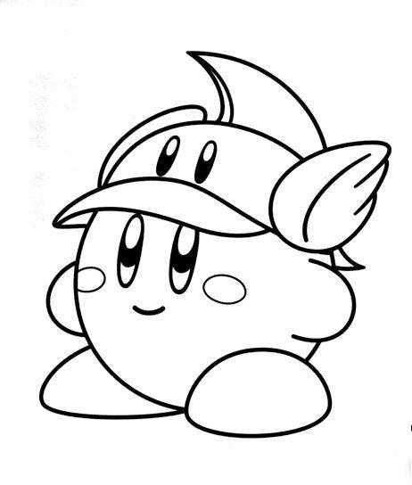 Fireman Kirb Coloring Page Kirby ぬり絵カービィ絵