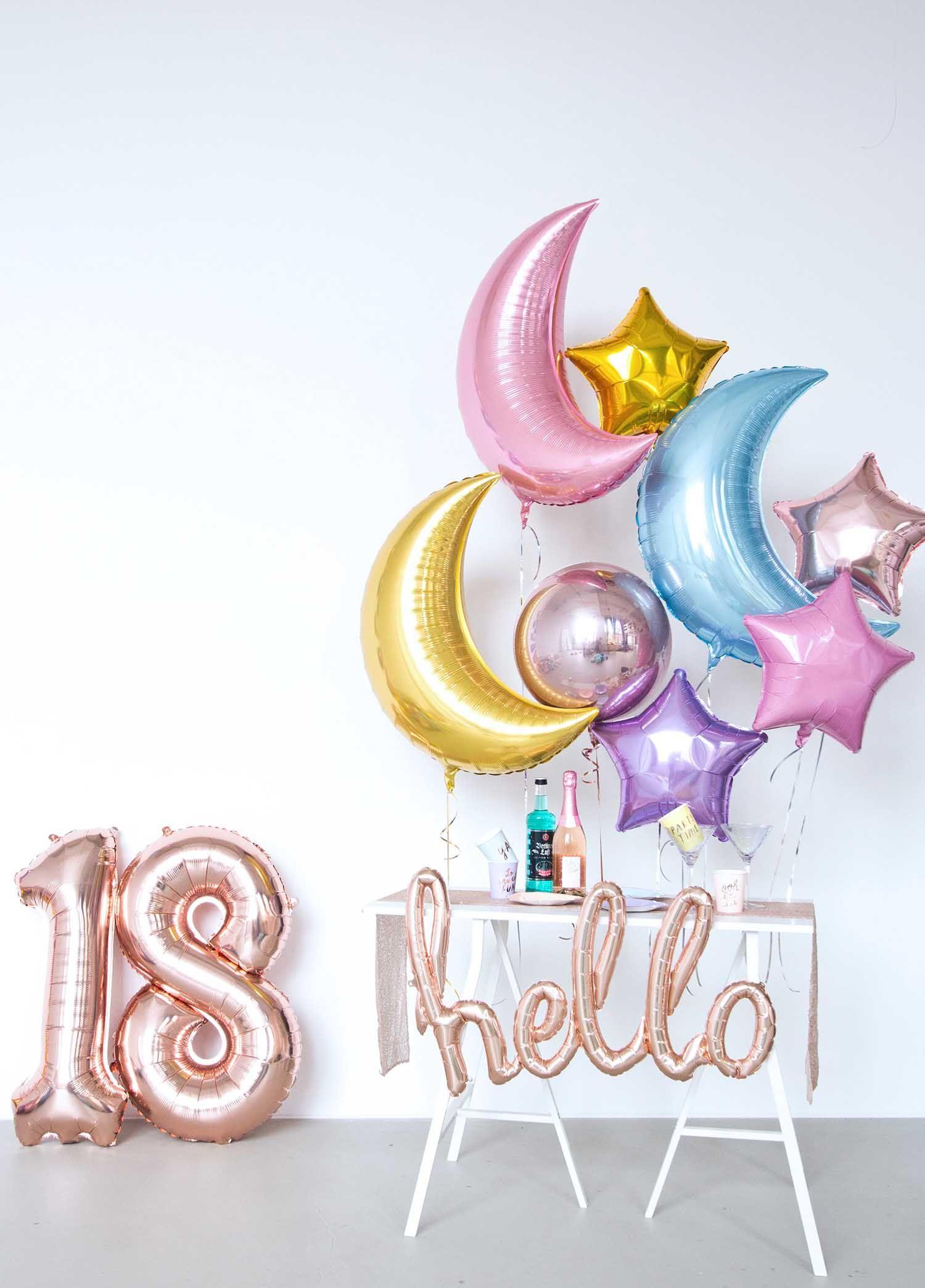 Balloonfantasy silvester 2018 dekoration newyearseve - Silvester dekoration ...