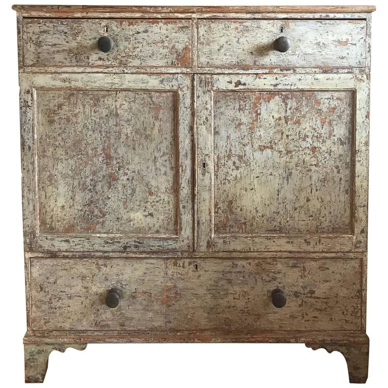 Mid 19th Century English North Country Linen Chest   Furniture Storage,  Linens And Storage