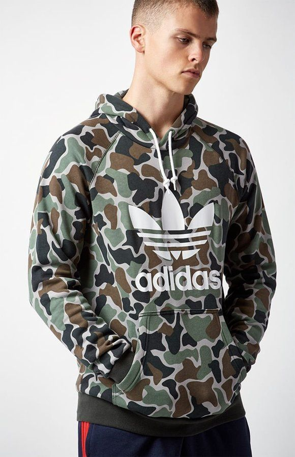 buy popular 98109 83417 adidas Camouflage Pullover Hoodie | Products | Adidas ...