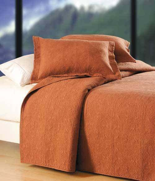 Details About Terra Cotta Twin Full Queen King Quilt Or