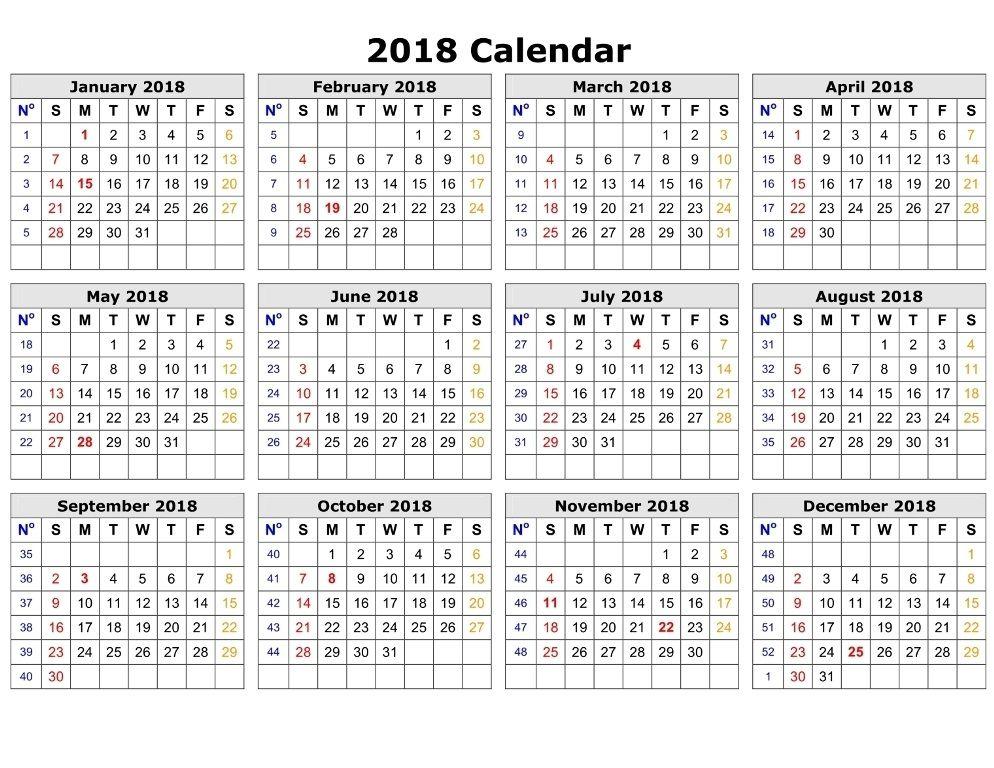 Calendar 2018 Pdf India Printable Calendar Template Printable