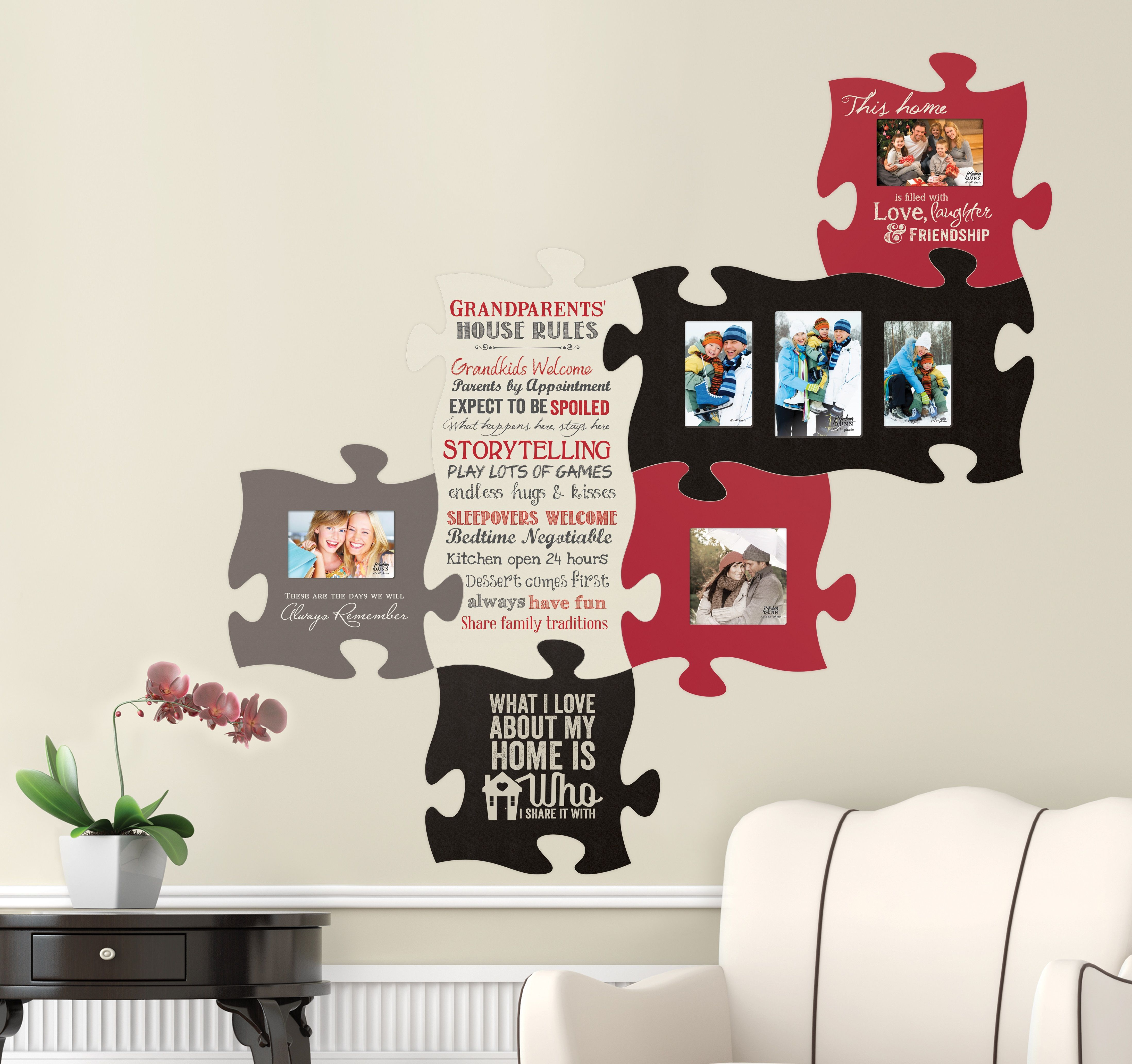 Puzzle Piece Your Family And Friends Together With This Wall Art There S Room For Everyone Plus Integrate Inspiratio Puzzle Frame Wall Frames Puzzle Pieces