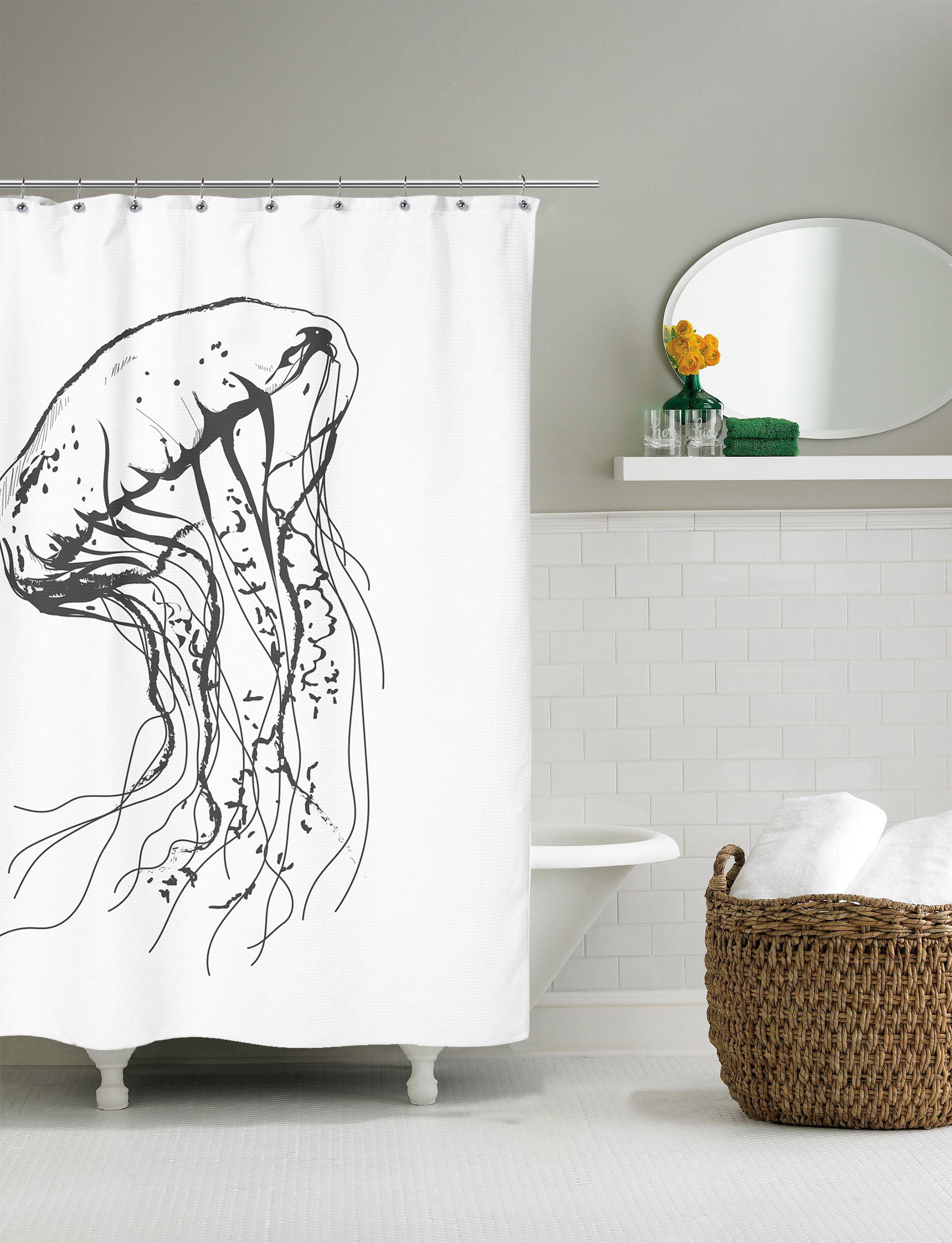 Jellyfish Shower Curtain Size L 200 Cm W 180 Cm