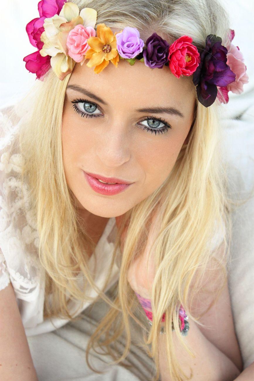 blumenkranz f r 39 s haar fairy crown haarband blumen blumenhaarband blueten blume headband. Black Bedroom Furniture Sets. Home Design Ideas