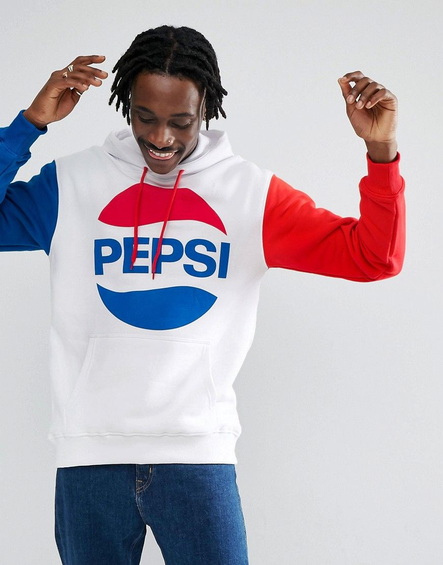 f978644acc4c7 Sweet SKTBS x Pepsi Hoodie With Large Logo - White