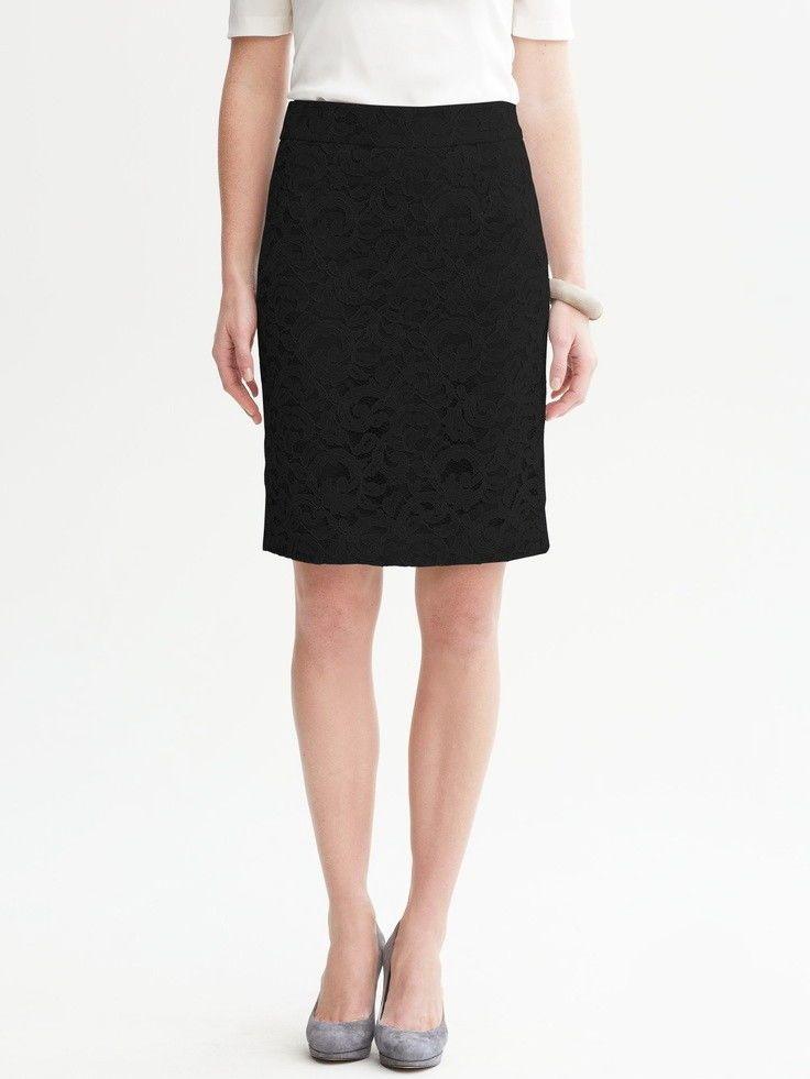 d1cce6fa57 BANANA REPUBLIC Size 0 Black Lace Pencil Skirt #BananaRepublic # StraightPencil