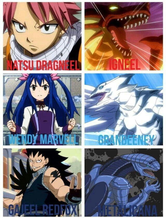 Natsu Igneel Wendy Grandeeney Gajeel Metalicana Dragon Slayers Dragons Text Fairy Tail Fairy Tail Dragon Slayer Fairy Tail Fairy Tail Characters