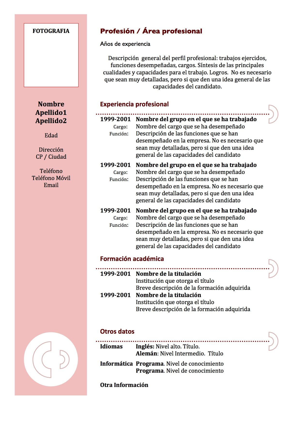 curriculum vitae - Google 검색 | Universidad | Pinterest | Plantilla ...