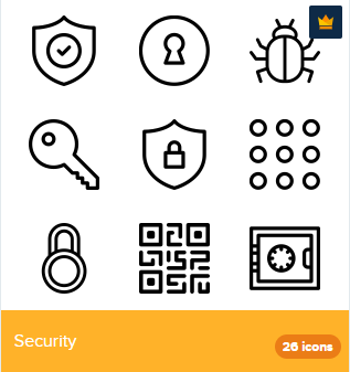 26 Premium Vector Icons Of Security Designed By Deemakdaksina Icon Search Icon Security