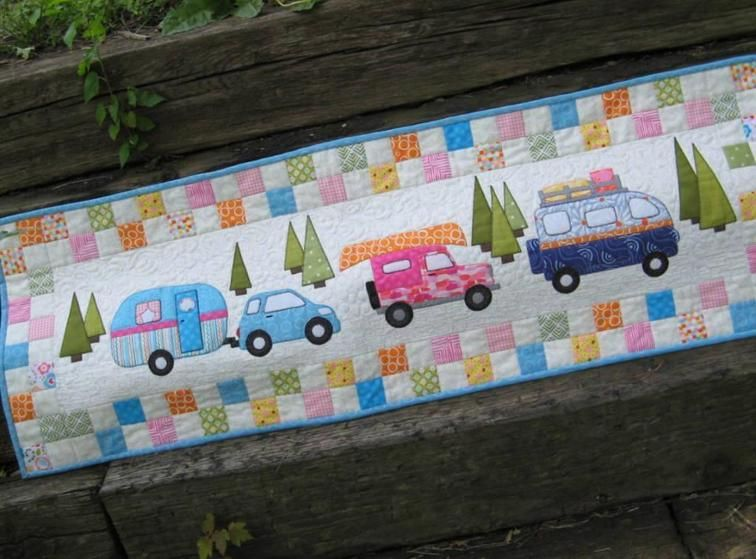 Image result for on vacation quilted table runner