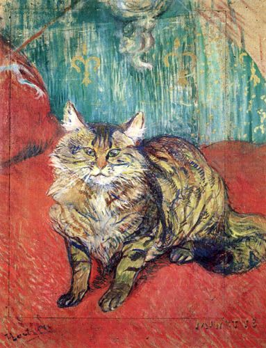 Kitty Minette Henri De Toulouse Lautrec As An Art Print Of Reproarte Henri De Toulouse Lautrec Cat Art Cat Painting
