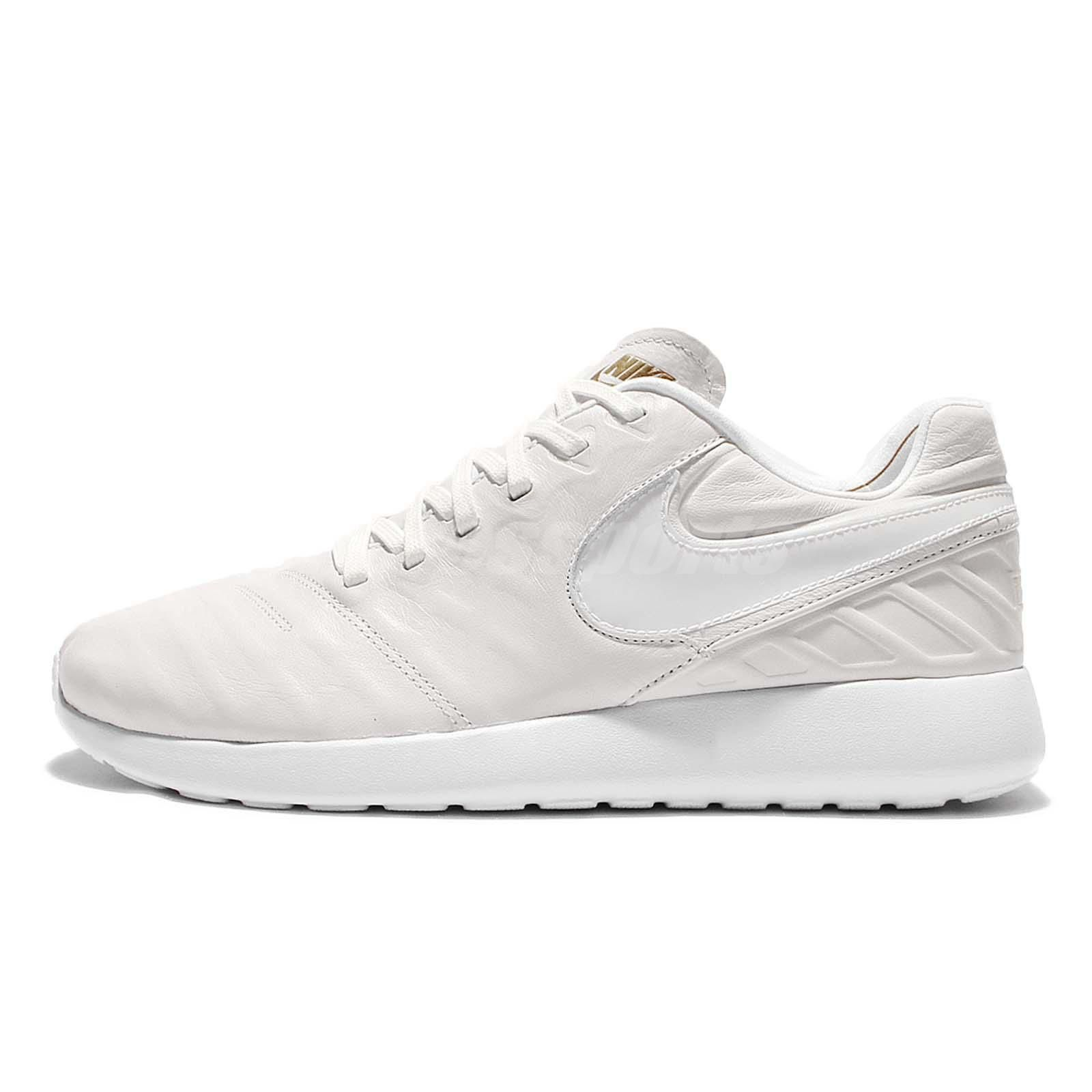 29746e1a82f40 Nike Roshe Tiempo VI QS One Run White Leather Mens Running Shoes 853535-117
