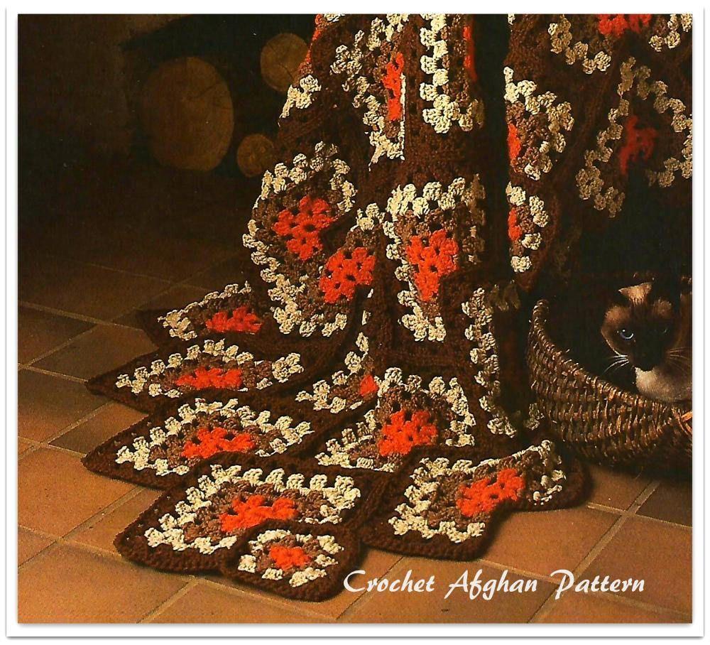 Contemporáneo Patrón Afghan Doble Ondulación Crochet Patrón - Ideas ...