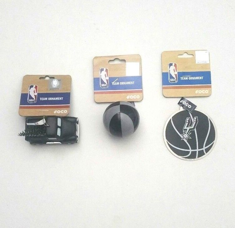 Christmas Tree San Antonio: San Antonio Spurs NBA Team Christmas Tree Ornament Lot Of