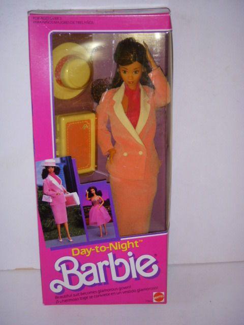 1984 Mattel, Day-to-Night Barbie 7944, Hispanic Barbie, Sealed, NRFB!
