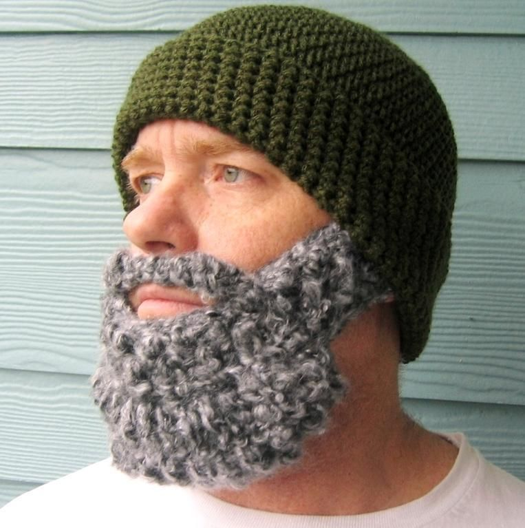 Santa Style Beard Beanie Crochet Pattern Beard Beanie Santa And