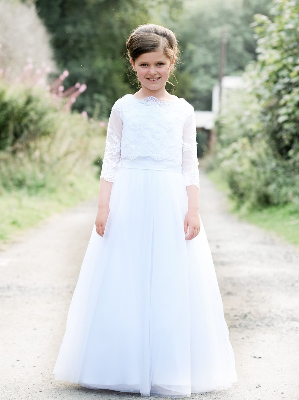 22eb22200b90 SophistiKatie 'Grace' Lace Bodice First Communion Dress | GIRLS ...