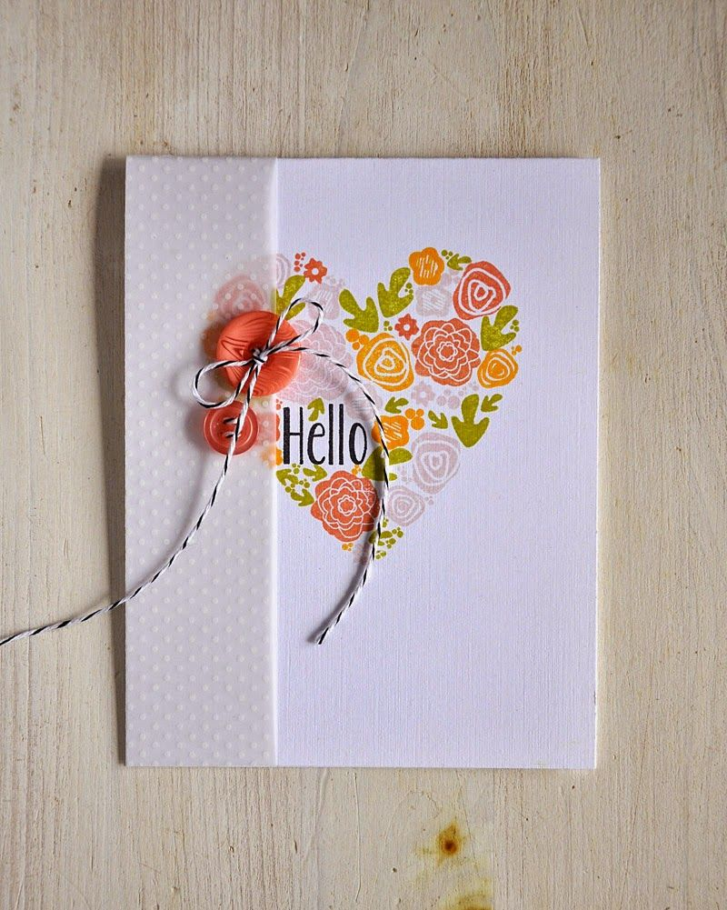 Handmade greeting card from simply stamped mini blooms revisited