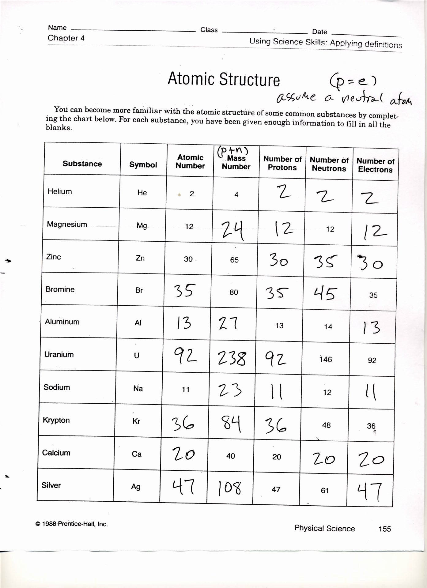 50 Isotope Practice Worksheet Answer Key In