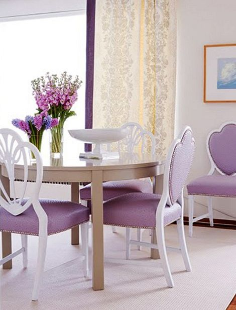 Lavender Dining Room Decor