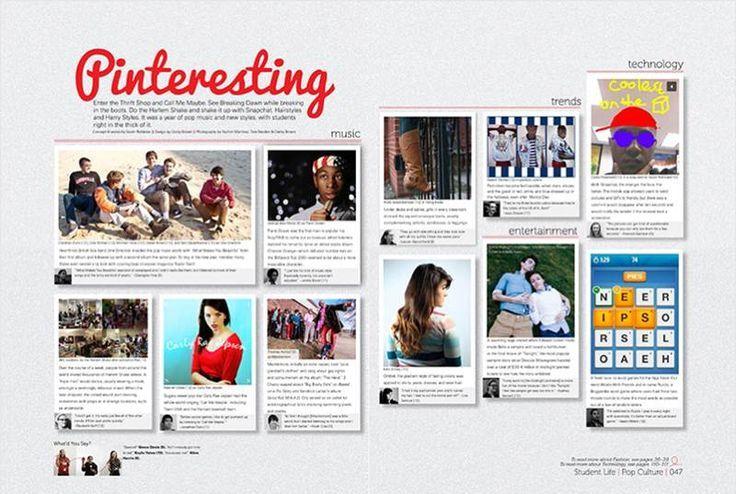 pinteresting cool spread idea yearbook spreads pinterest