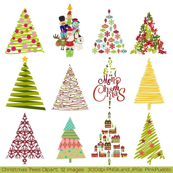 Handcrafted Holiday Goods That Will Jingle Your Bells Christmas Tree Clipart Christmas Card Design Christmas Tree Art