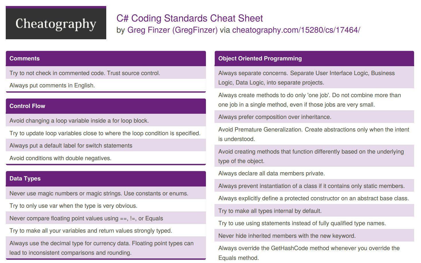 20 Cheatsheets & Infographics For Software Developers   Hongkiat ...