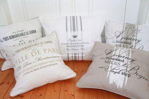 Details zu Kissenbezug VILLE de PARIS oder PAMELA Grau oder Sand ...