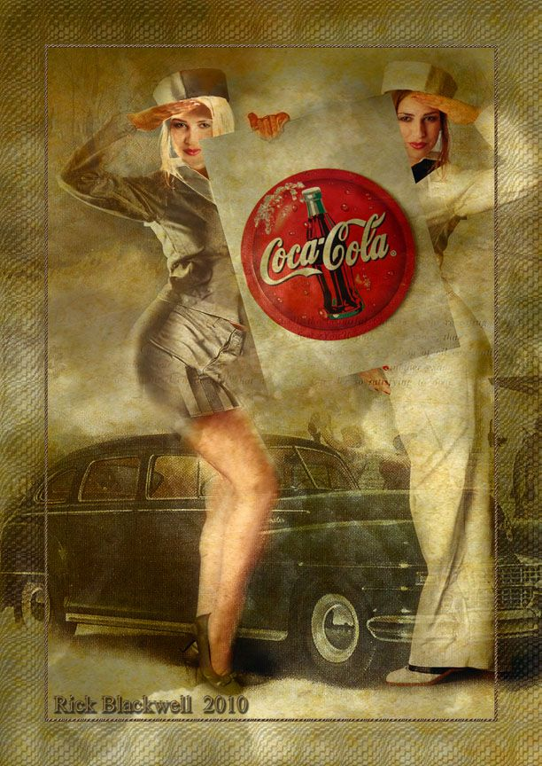 Vintage Coca-Cola AD GIRLS by Rickbw1 deviantart com