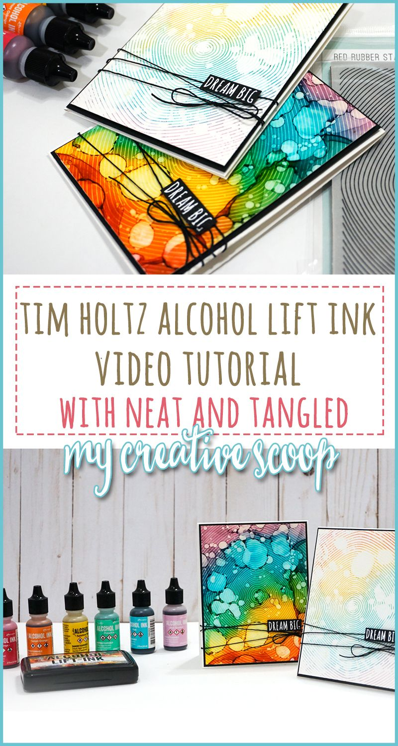 Tim Holtz Alcohol Inks + Lift Ink Video Tutorial #alcoholinkcrafts