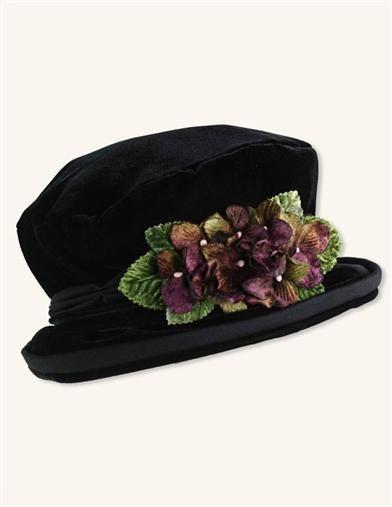 Victorian Trading Co Jane Eyre Adjustable Charcoal Grey Hat NIB