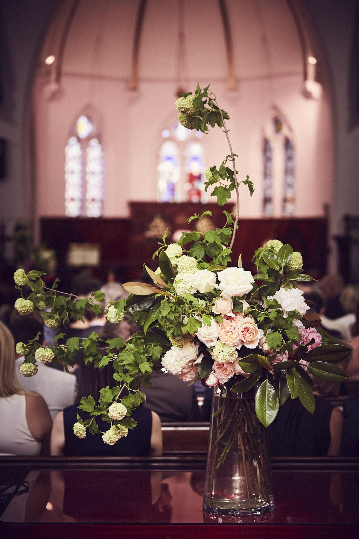 Large church arrangement by floreat floral www