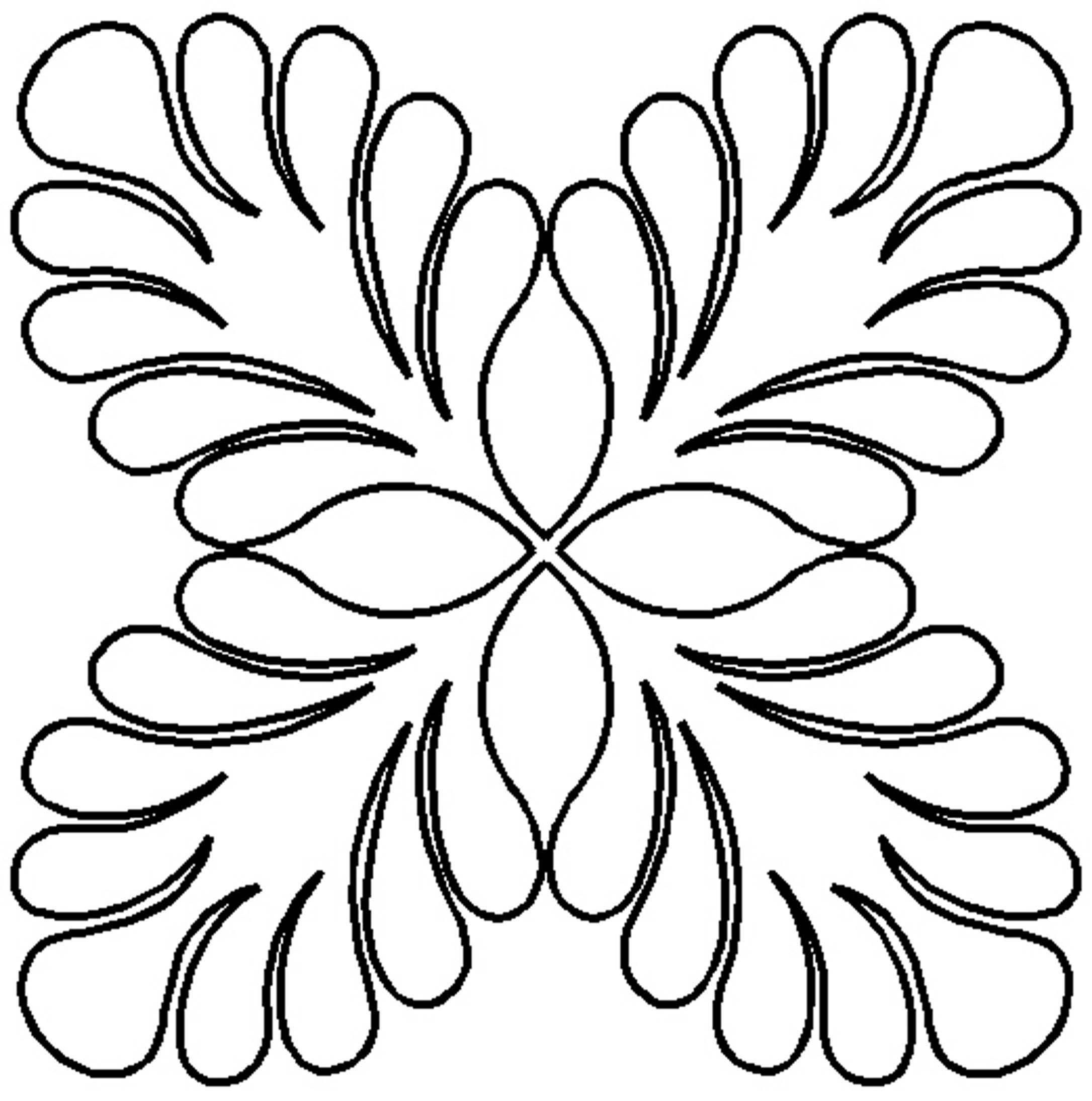 Quilt Stencil Feather Four Corners Block 9in By Hargrave, Harriet ...