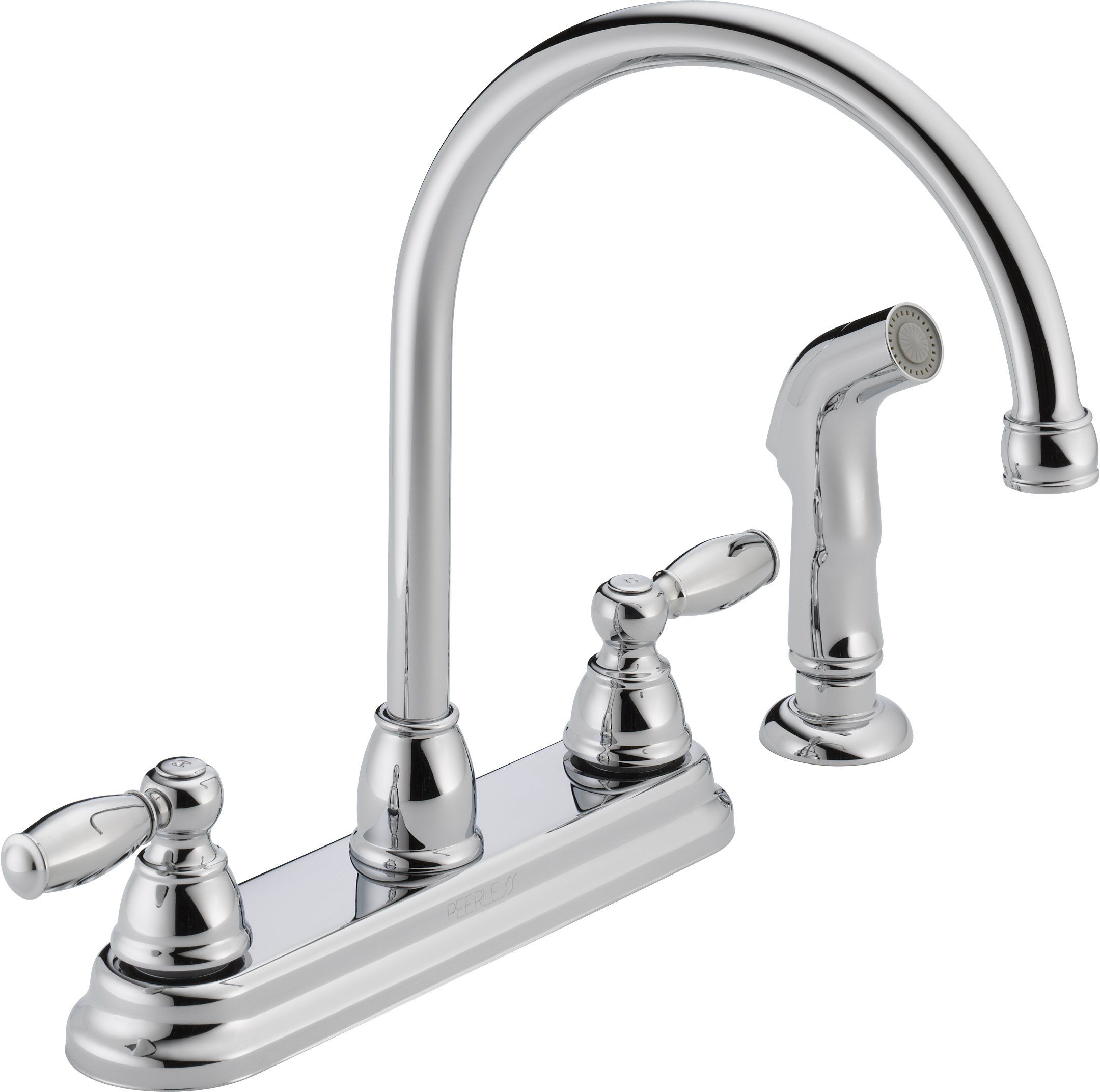 Peerless P299575lf Apex Two Handle Kitchen Faucet Chrome Touch