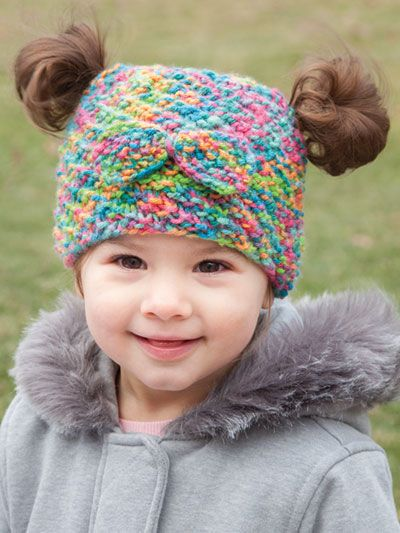 4fb1fb18abc New Knitting Patterns - ANNIE S SIGNATURE DESIGN  Messy Bun   Pigtail Knit  Hat