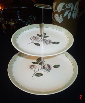 Sold Vintage 1930s Crown Devon Cake Stand Perfect For Afternoon Tea Afternoon Tea Cake Stand Tiered Cake Stand