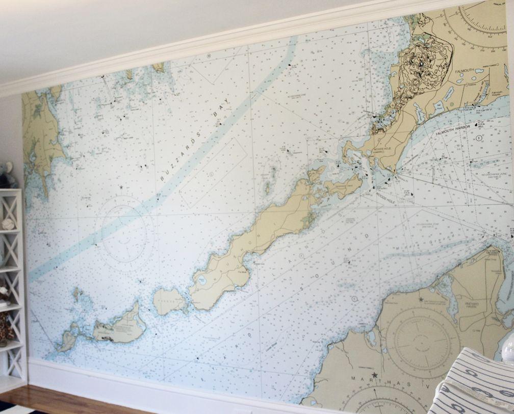Nautical Map Wallpaper Nautical Chart Decor Map Wallpaper Nautical Maps Decor