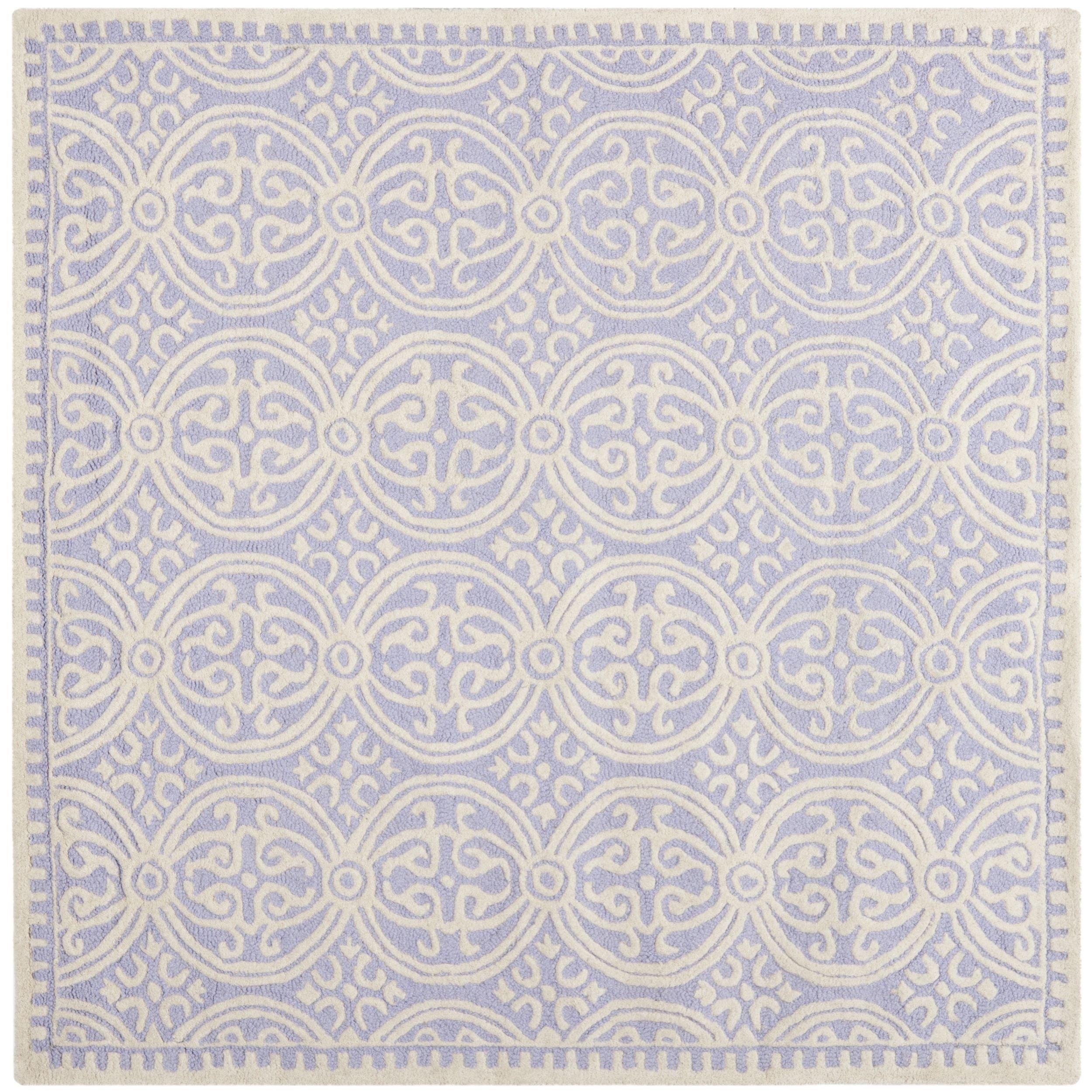 Safavieh Handmade Cambridge Moroccan Lavender/ Ivory Rug