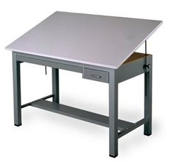 Mayline Economy Ranger Drafting Table 7724A With Tool Drawer And Shallow  Drawers