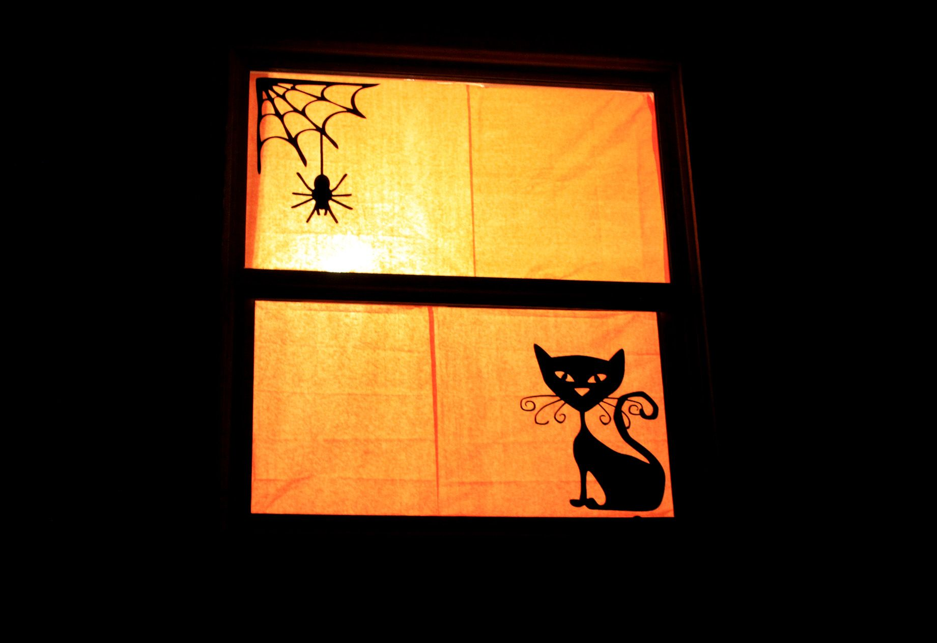 Halloween Silhouette Windows - Who Arted? halloweenie Pinterest - Window Halloween Decorations
