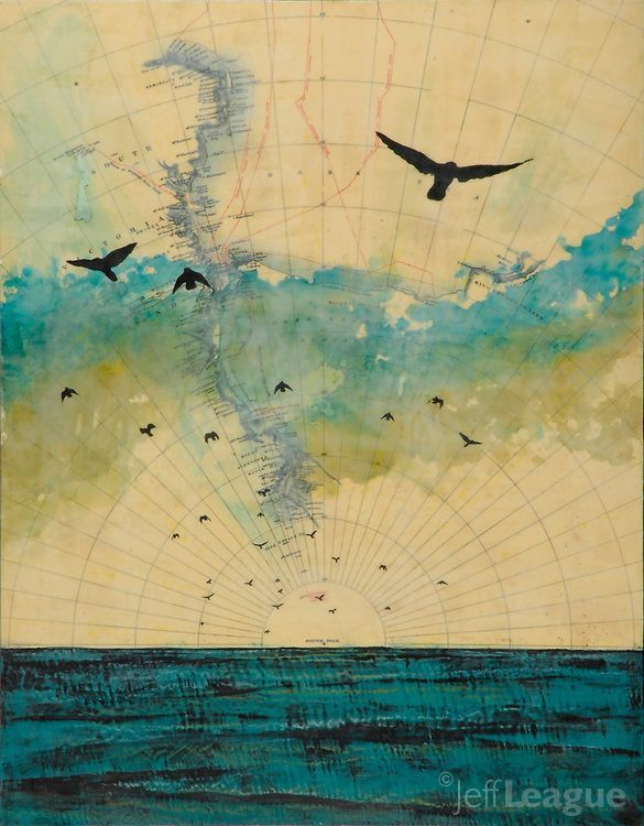 photographs and encaustic | Mixed media photo transfer and encaustic painting by Jeff League of ...