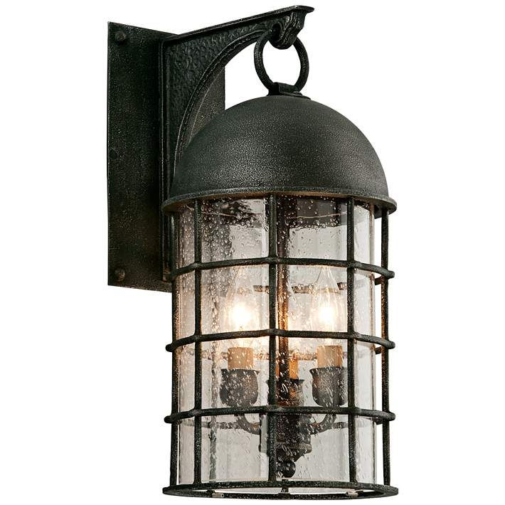 Charlemagne 18 High Aged Pewter Outdoor Wall Light
