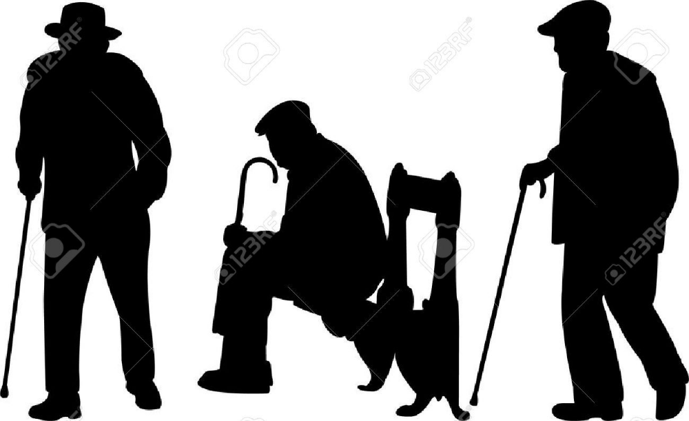 Template Silhouette Old Man Google Search Silhouette Man Old Men