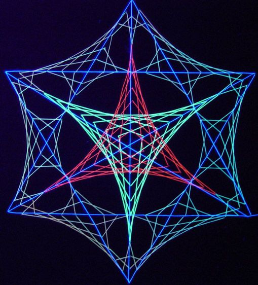 One Of The 45 Different Geometric String Art Designs Designs Come