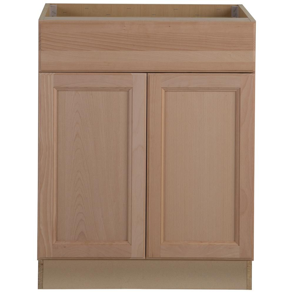Hampton Bay Easthaven Shaker Assembled 21x34 5x24 In Frameless Base Cabinet With Drawer In Unfinished Beech Eh2135b Gb The Home Depot Unfinished Kitchen Cabinets Base Cabinets Cabinet Drawers