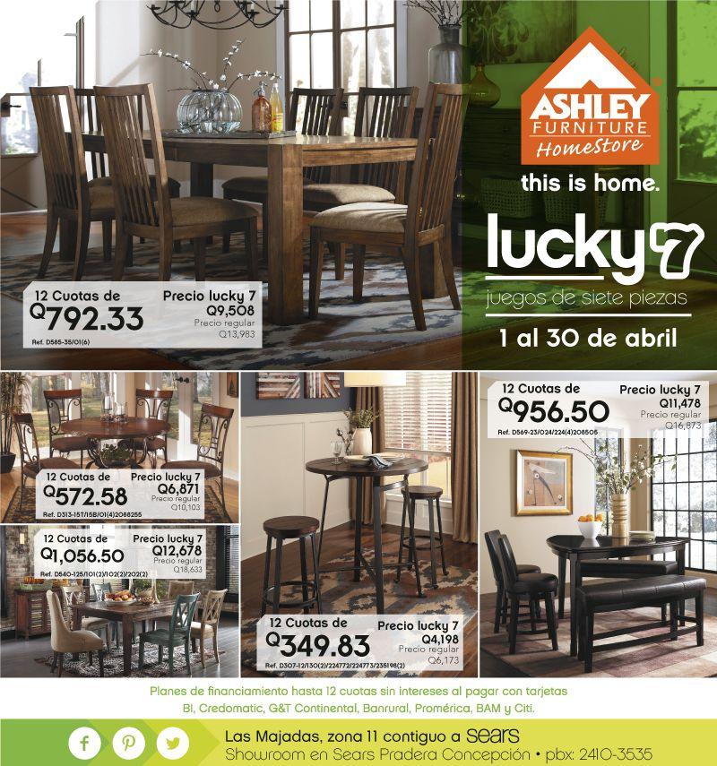 Ven A Disfrutar Del Lucky 7 En Ashley Furniture Homestore Guatemala Con Los  JUEGOS DE 7