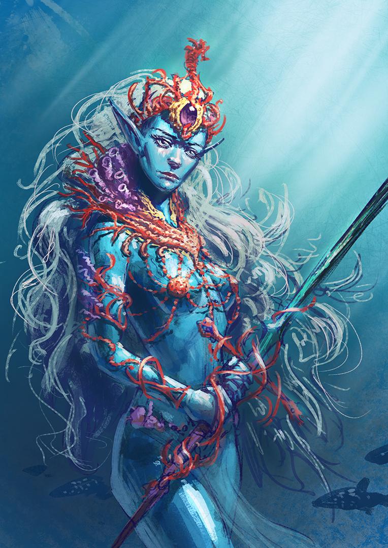 Sea Elf Princess | undine / nereid in 2019 | Elf characters