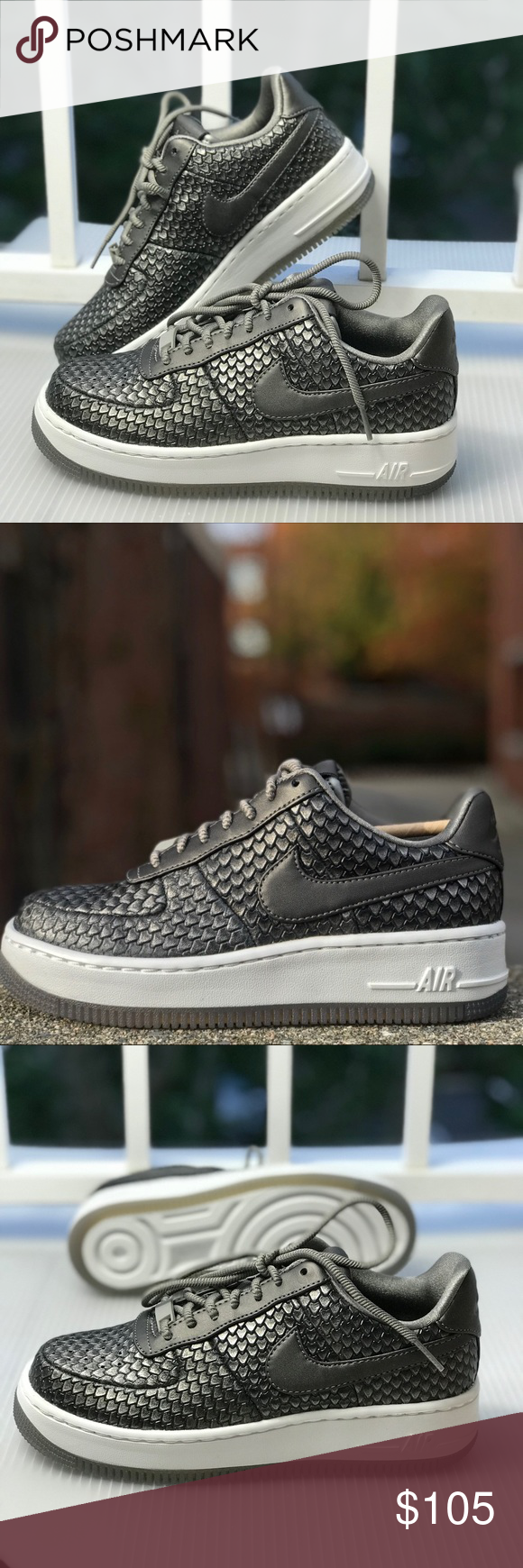 6b194af5bd0381 NWT Nike Air Force 1 Upstep PRM Mtls Pewter WMNS Brand new with box ...